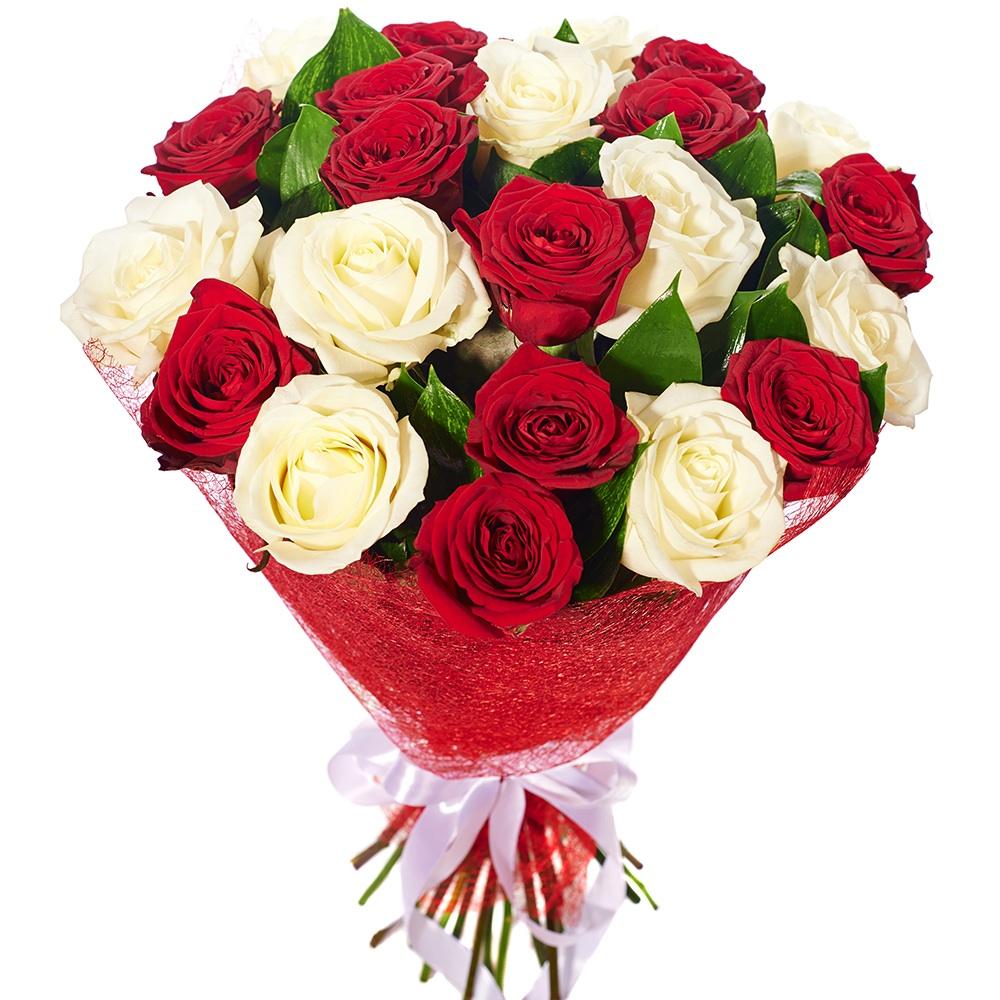 Картинки с розами букет белых роз и красных роз