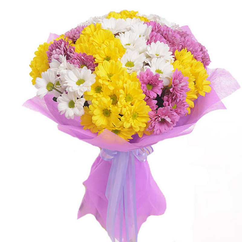 Букеты из хризантем до 1600, букеты цветов