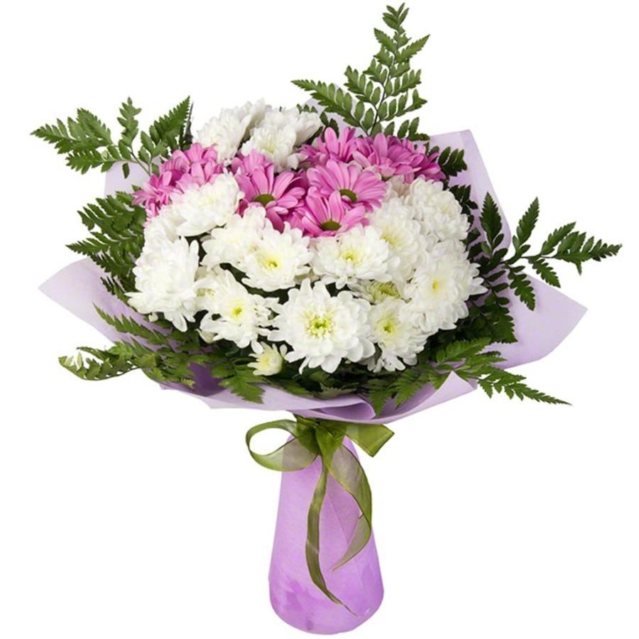 Дешевые букеты из роз и хризантем
